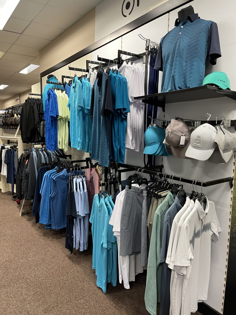 Ping golf clothing apparel at peter field golf shop norwich norfolk