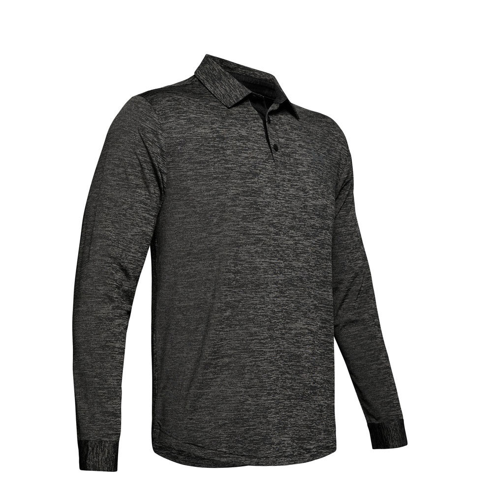 Under Armour Long Sleeved Playoff 2.0 Polo Black