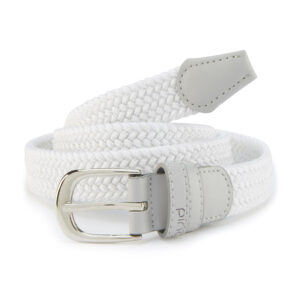 Ping Ladies Stretch Webbing Golf Belt White