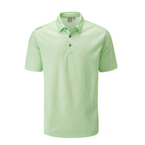 Ping Linear Jacquard Polo Shirt Mint