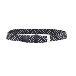 Green Lamb Desiree Stretch Belt Navy/White