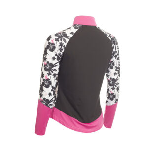 Green Lamb Flory Long Sleeve Print Top Orchid