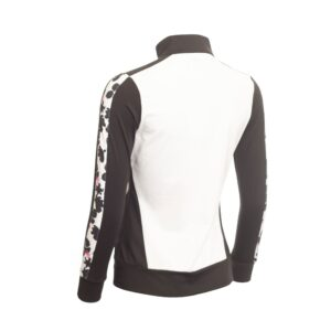 Green Lamb Freddie Long Sleeve Full Zip Top White/Black