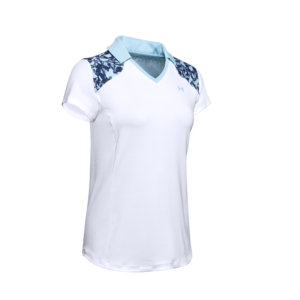 Under Armour Zinger Blocked Polo White/Blue