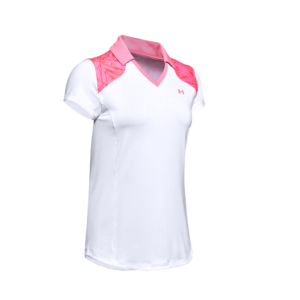 Under Armour Zinger Blocked Polo White/Pink