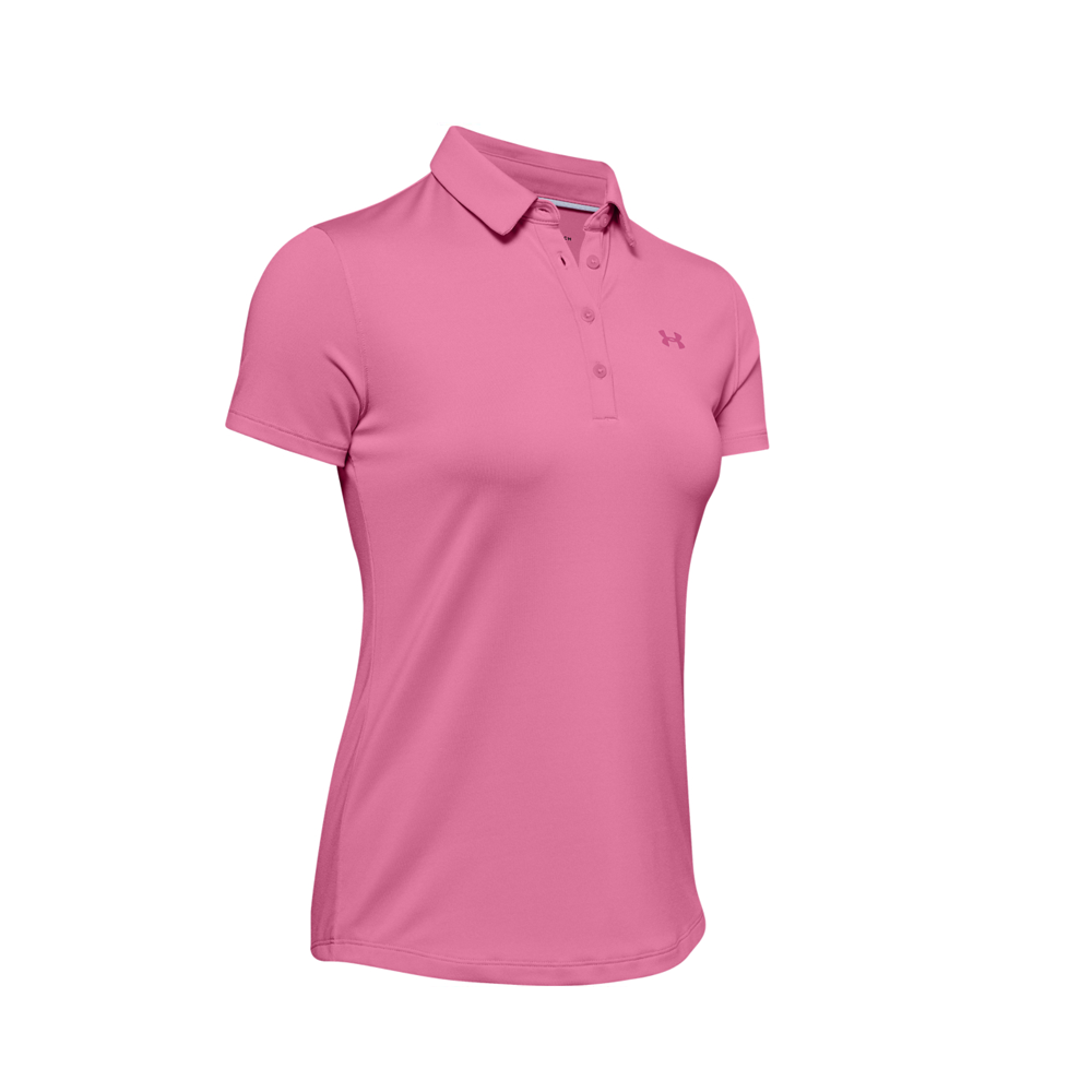 Under Armour Zinger Short Sleeve Polo Pink