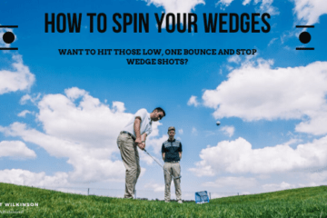 to show how to spin wedges around the green, golfers hitting wedge shots, short game practice