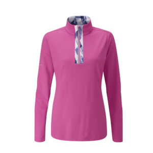 Ping Misty Half Zip Top Fuchsia Multi
