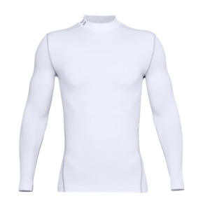 Under Armour ColdGear Mock White Front