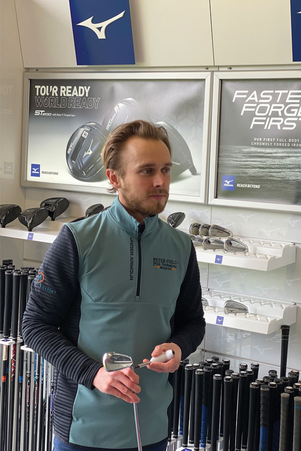 Alex at peter field golf shop norwich norfolk