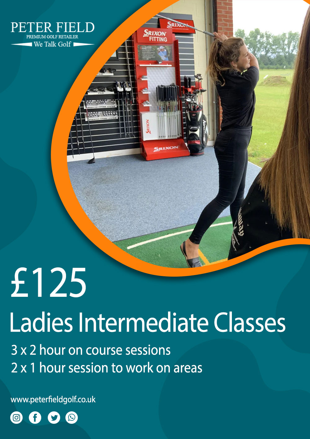 Ladies intermediate golf lessons at peter field golf club PGA pro norwich norfolk