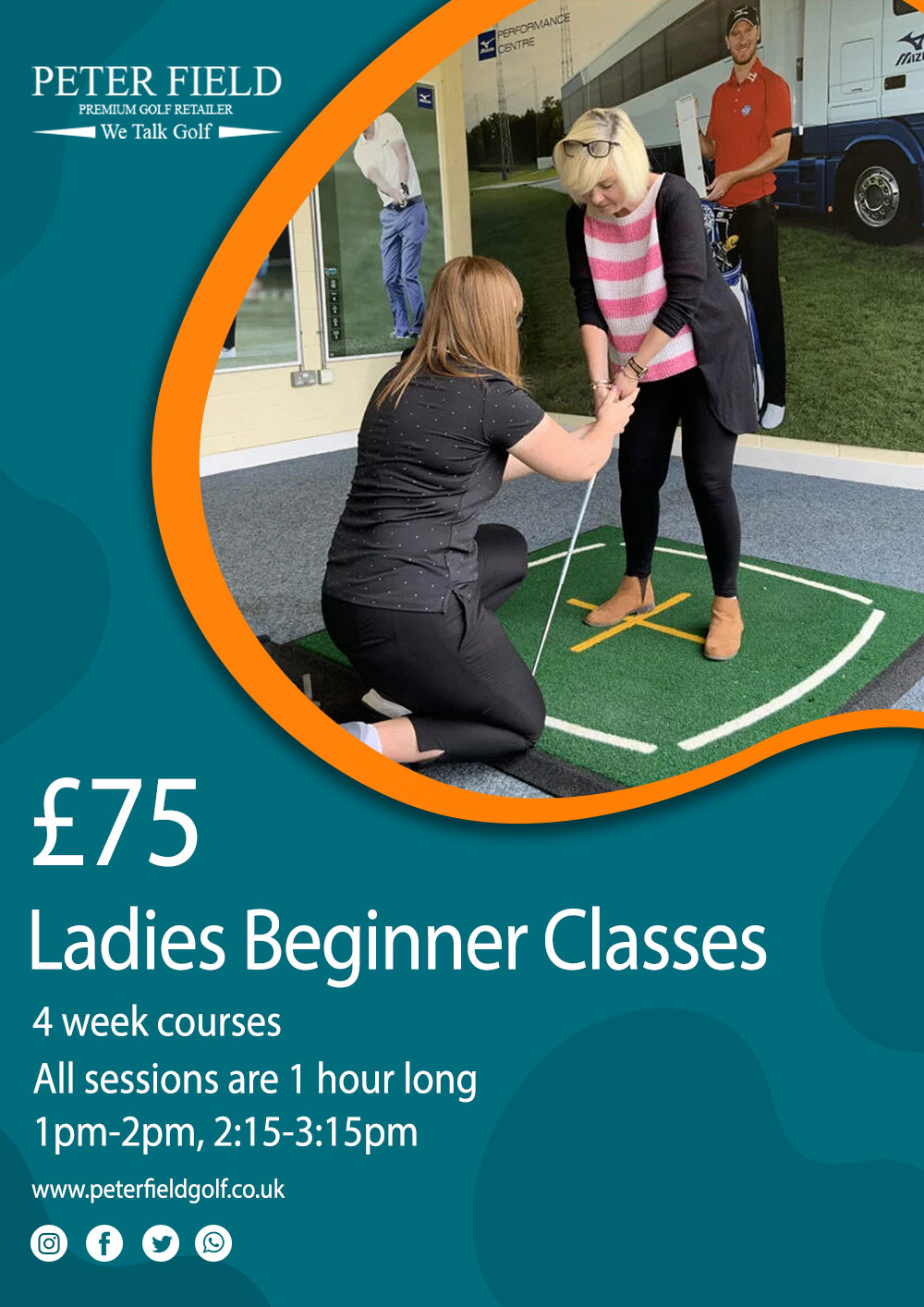 Ladies begginers golf lessons at peter field golf club PGA pro norwich norfolk