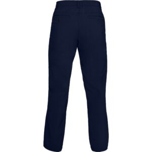 Soft, stretchy woven fabric delivers total comfort Material wicks sweat & dries really fast Stretch-engineered waistband for superior mobility & insane comfort Flat-front, 4-pocket design Style #: 1331187 56% Nylon/40% Polyester/4% Elastane Imported Tapered leg fit - Navy