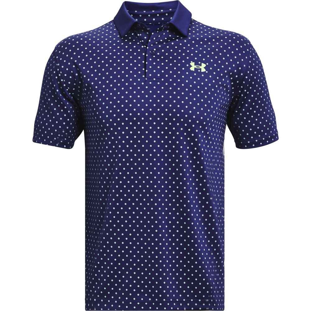 Under Armour Men's Performance Printed Polo - Blue