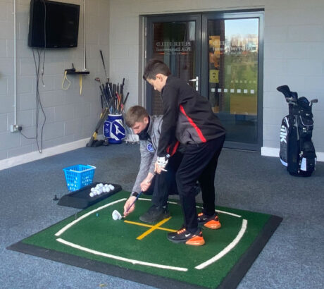 Book a Junior golf lesson today at peter field golf shop norwich norfolk