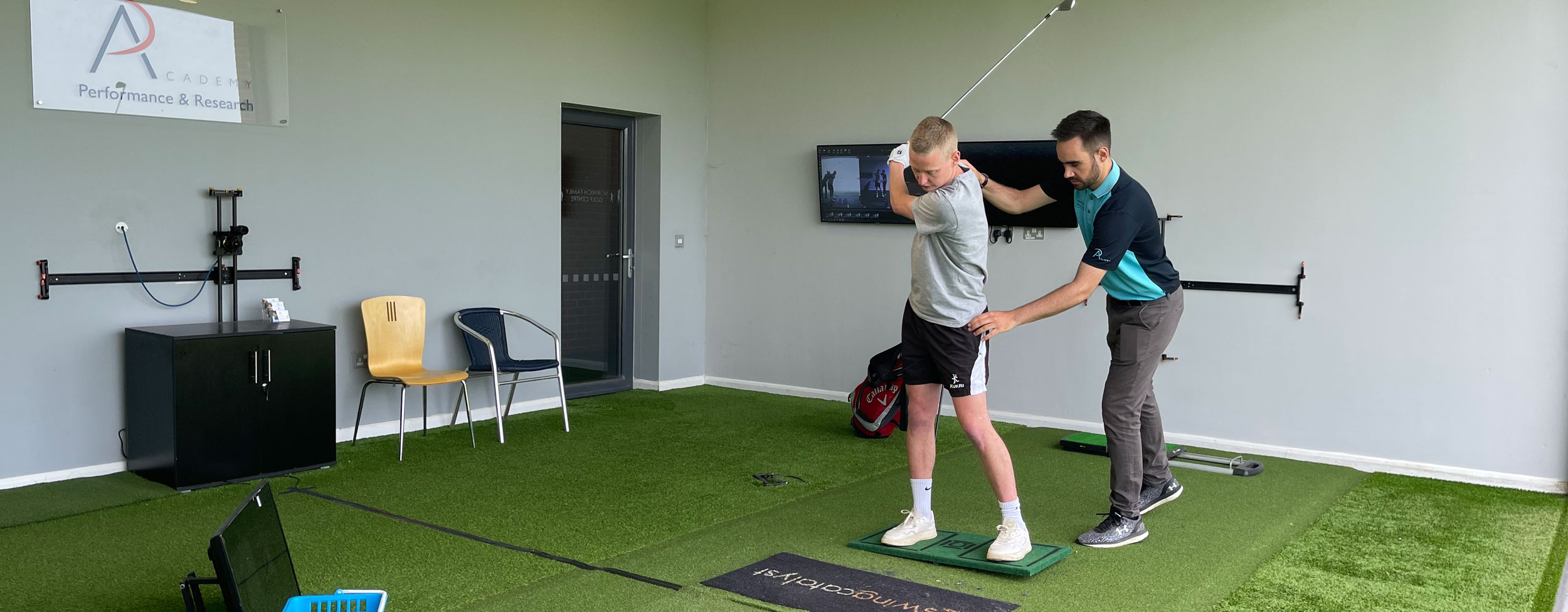 Book a golf tech lesson today at peter field golf shop norwich norfolk