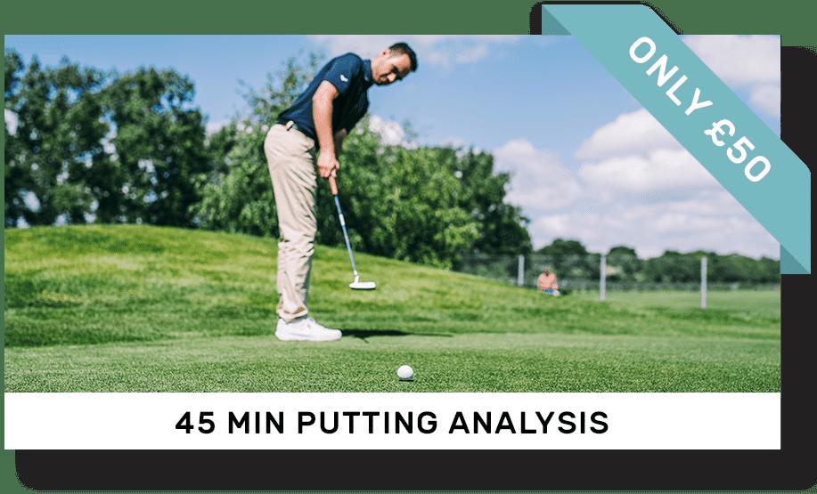 45 minute putting analysis gift voucher | Peter Field Golf, Norwich