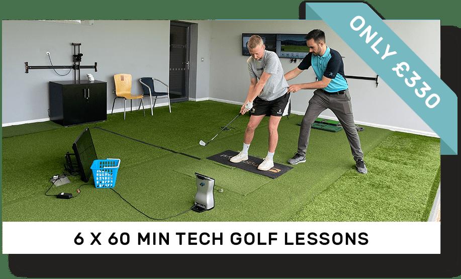 6 x 60 minute tech golf lesson | Peter Field Golf, norwich